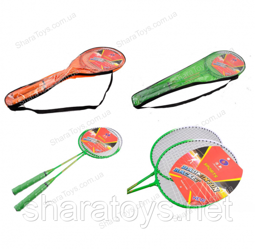 Бадминтон ракетки в сумке 3 вида