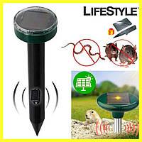 Отпугиватель грызунов Mouse expeller solar / Садовый отпугиватель кротов + Нож-визитка в Подарок