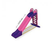 Гірка для катання дітей спуск 243 см рожева/фіолет Долони Doloni детская горка