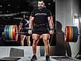 Пояс атлетический с карабином, 6/10 см, 3 сл. MEDIUM, фото 9