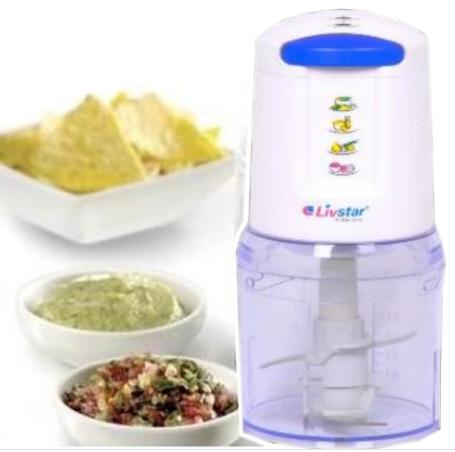Подрібнювач LIVSTAR LSU-1420 500 мл 300 Вт | Харчової екстрактор чоппер для нарізки подрібнення продуктів