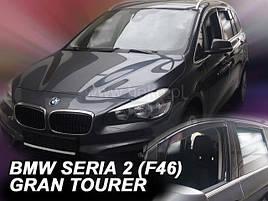 Дефлекторы окон (ветровики)  BMW 2 Series F46 2015 -> 5D GRAN TOURER 4шт (Heko)
