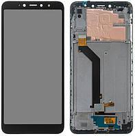 Дисплей (екран) для телефону Xiaomi Redmi S2 + Touchscreen with frame (original) Black