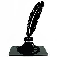 Упор для книг Glozis Feather 15 х 12 см Черный G-036, КОД: 293216