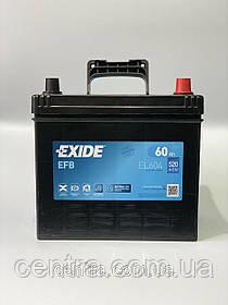 Автомобильный аккумулятор EXIDE EFB EL6040 60Ah JR+ Asia