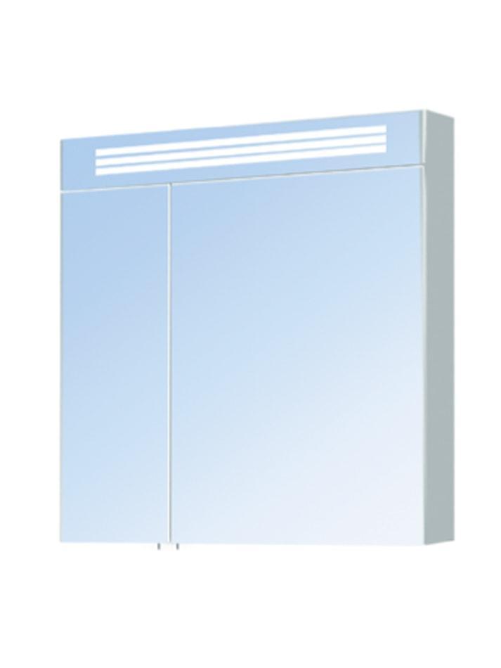 Зеркальный шкаф Мойдодыр Лагуна ЗШ-80х80 с подсветкой