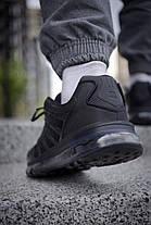 Кросівки чоловічі Найк Аір Макс Shox Black з тонкими прогумованими вставками Репліка, фото 2