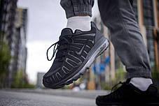 Кроссовки мужские Nike Air Max Shox Black Найк Аир Макс Шокс Реплика, фото 2