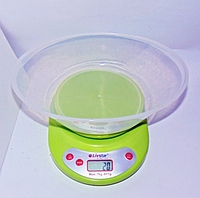 Кухонные весы LIVSTAR LSU-1775 электронные овальные с чашей 7 кг, фото 1