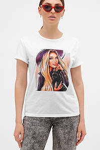 Женская футболка с оригинальным принтом