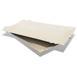 Тарелка одноразовая картонная прямоугольная - 14х25 см, 100шт
