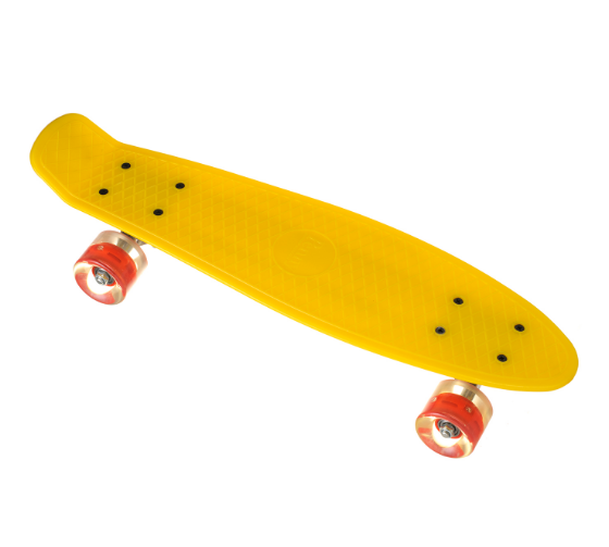 Пенні борд Penny Board 23 з світяться колесами   Жовтий