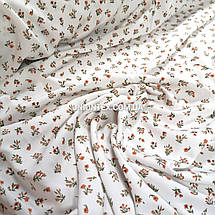Ткань штапель плотный принт мелкие цветочки, фото 2