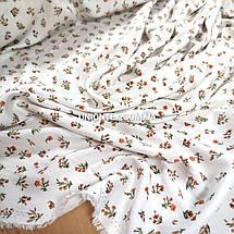 Ткань штапель плотный принт мелкие цветочки, фото 3
