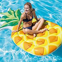 Пляжный надувной матрас - плот Intex 58761 «Ананас», желтый, 216 х 124 см