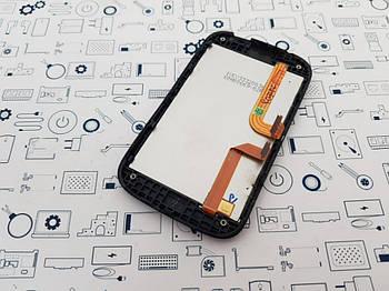 Дисплей HTC A320e модуль черный Сервисный оригинал с разборки