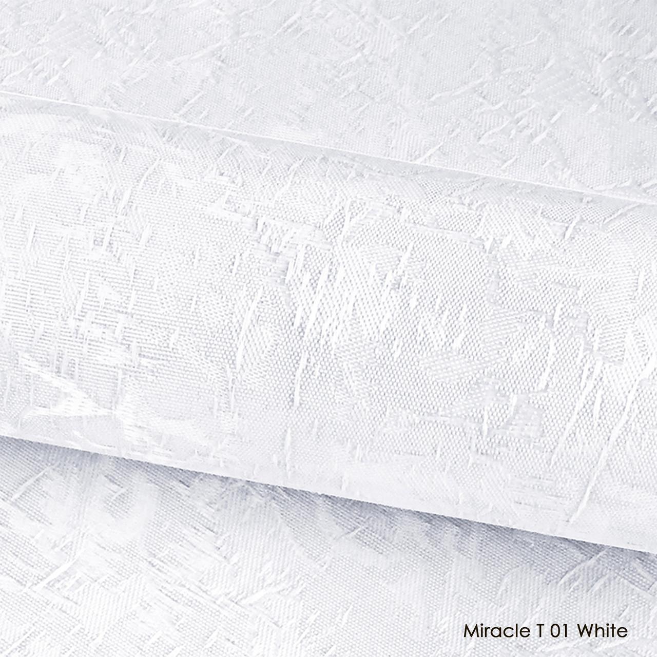 Ролеты тканевые Miracle T 01  White