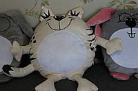 """Подушка-игрушка с принтом """"Котик-обнимашка"""", печать на подушках, фото на подушках"""