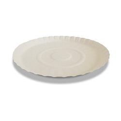 Одноразовая бумажная тарелка круглая - D25, 100 шт, картон