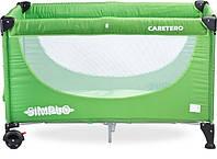 Детский манеж-кроватка Caretero Simplo (Зеленый)