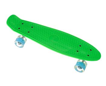 Пенни борд Penny Board 23 со светящимися колесами   Зеленый