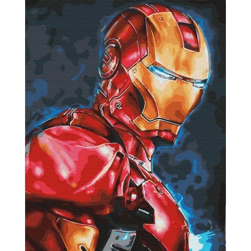 Картина по номерам  Тони Старк 40 х 50  GX30164