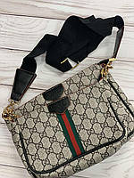 Двойная сумка клатч через плечо Гучии, фото 1