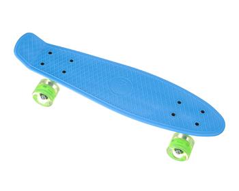 Пенни борд Penny Board 23 со светящимися колесами   Голубой