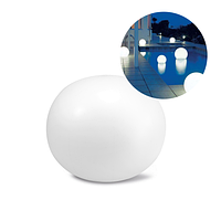 Светодиодная декоративная подсветка, фонарь Intex 68695 «Глобус» надувной, плавающий, работает от аккумулятора.
