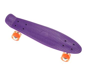 Пенни борд Penny Board 23 со светящимися колесами   Фиолетовый