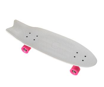 Пенни борд Penny Board YB-28 со светящимися колесами   Белый