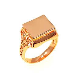 Мужское кольцо (печатка) Xuping из медицинского золота, позолота 18K, 11872       (24)