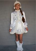 Детский карнавальный костюм Снегурочка белый 9-10 лет