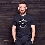 Чоловіча спортивна футболка Reebok, темно-сірого кольору, фото 2