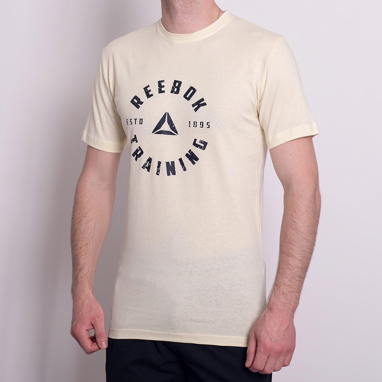 Чоловіча спортивна футболка Reebok, темно-сірого кольору