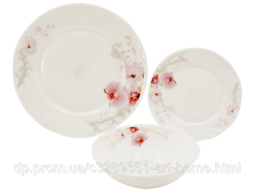 Сервиз столовый 18 предметов Орхидея Lumines 6714-18