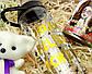"""Подарочный набор женский """"Модной брюнетки"""": бутылка для воды, консервированные носочки, игрушка мишка-талисман, фото 3"""