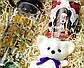 """Подарочный набор женский """"Модной брюнетки"""": бутылка для воды, консервированные носочки, игрушка мишка-талисман, фото 9"""