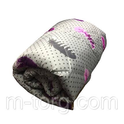 Ковдра полуторна холлофайбер, тканина полікотон, фото 2