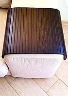Деревянная накладка, столик, коврик на подлокотник дивана. Деревянный коврик -накладка на пуфик.