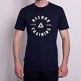 Чоловіча спортивна футболка Reebok, світло-сірого кольору, фото 4