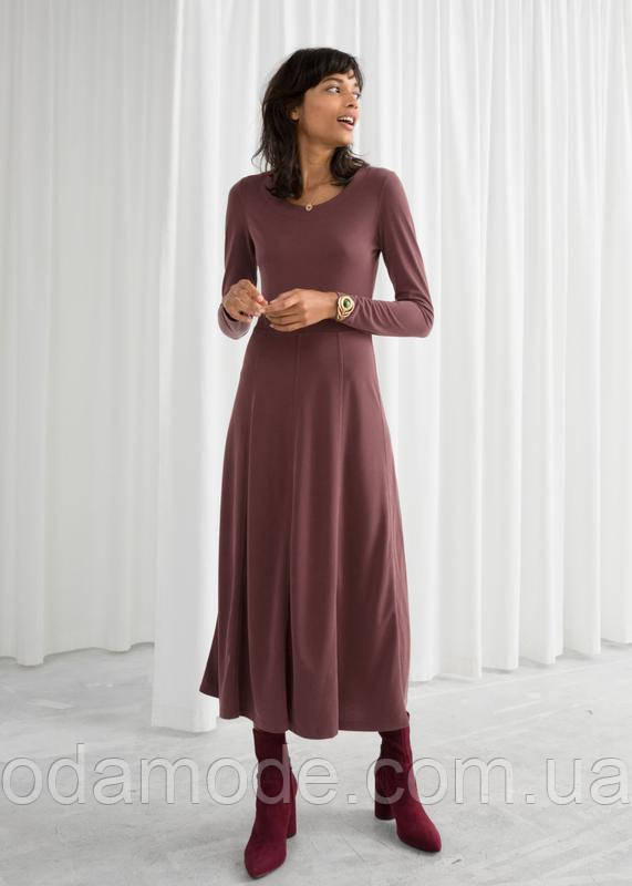 Женское платье & Other Stories коричневое