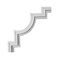 Гипсовая лепнина декоративный угол у-27 h235х235мм