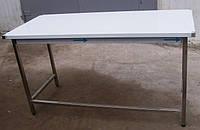 Стол производственный 2400х600х850 с бортом, из нержавеющей стали