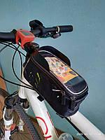 Велосумка бардачок под телефон и инструменты с креплением на раму