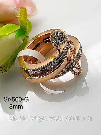 КОЛЬЦО ST.STEEL  Sr-560(6,7,8), фото 2