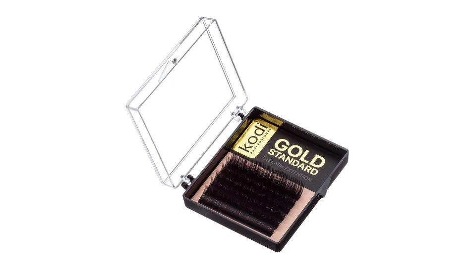 "Ресницы ""Mini pack"" завиток В, 0.07 (6 рядов: 8 mm), упаковка Gold Standard"
