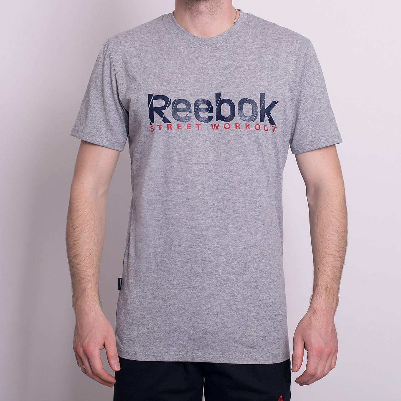 Чоловіча спортивна футболка Reebok, світло-сірого кольору