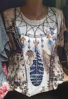 Практичная женская футболка на лето большого размера