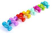 Гантели для фитнеса с виниловым покрытием Zelart Beauty TA-5225-0,5 (2x0,5кг) серые, фото 2